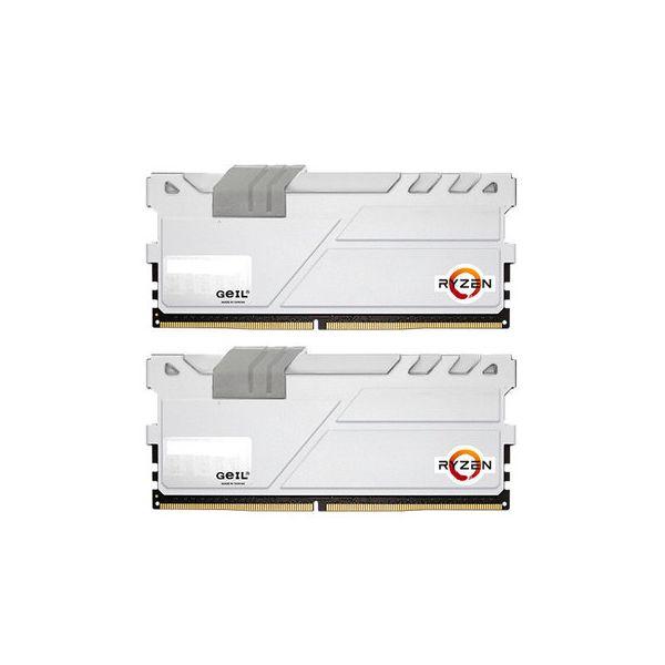 Memória RAM Geil 32GB AMD Edition EVO X (2x 16GB) DDR4 2400MHz PC4-19200 CL16 White - GAEXW432GB2400C16DC