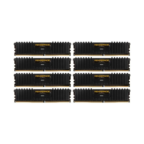 Memória RAM Corsair 64GB Vengeance LPX (8x 8GB) DDR4 3333MHz PC4-26600 CL16 - CMK64GX4M8B3333C16