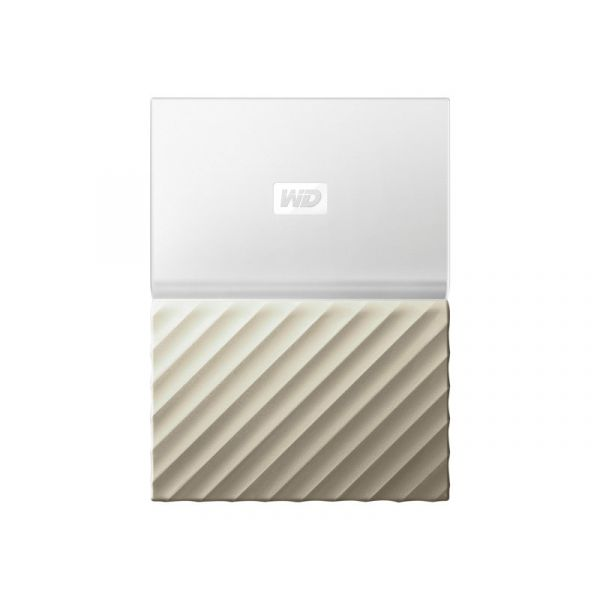 Disco Externo Western Digital 4TB My Passport Ultra USB 3.0 White/Gold - WDBFKT0040BGD-WESN
