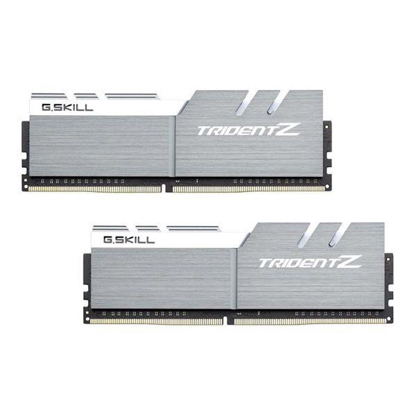 Memória RAM G.Skill 16GB Trident Z (2x 8GB) DDR4 4133MHz PC4-33000 CL19 Grey/White - F4-4133C19D-16GTZSWC