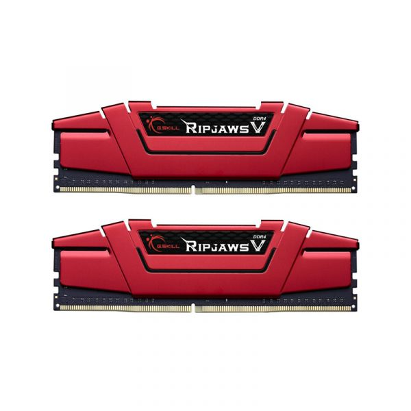 Memória RAM G.Skill 16GB Ripjaws V (2x 8GB) DDR4 3200Mhz PC4-25600 CL16 Red - F4-3200C16D-16GVR