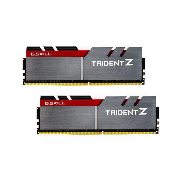Memória RAM G.Skill 32GB Trident Z RGB (2x 16GB) DDR4 3600MHz PC4-28800 CL17 Grey/Red - F4-3600C17D-32GTZ