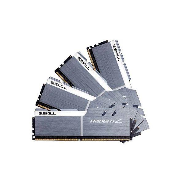 Memória RAM G.Skill 32GB Trident Z RGB (4x 8GB) DDR4 4133MHz PC4-33000 CL19 - F4-4133C19Q-32GTZSWF