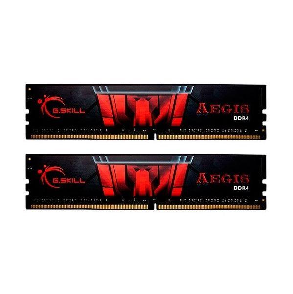 Memória RAM G.Skill 8GB Aegis DDR4 2400MHz PC4-19200 2x4GB CL17 - F4-2400C17D-8GIS