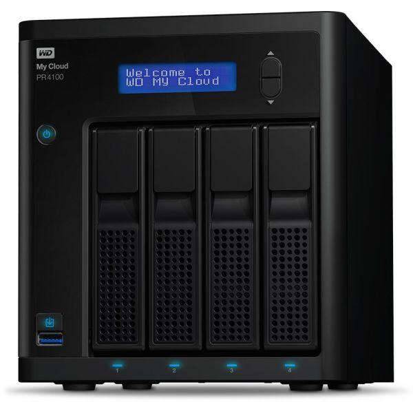 Western Digital 40TB My Cloud PRO PR4100 EMEA - WDBNFA0400KBK-EESN