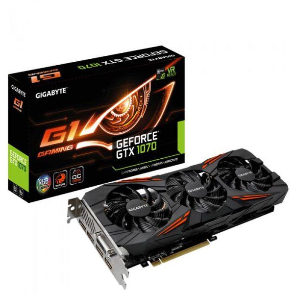 Gigabyte GeForce GTX1070 G1 Gaming RGB 8GB GDDR5 - GVN1070G18-00-G2 Rev2.0
