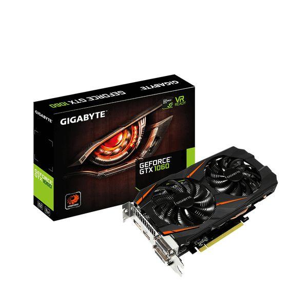 Gigabyte GeForce GTX1060 Windforce 3GB GDDR5 - GV-N1060WF2-3GD