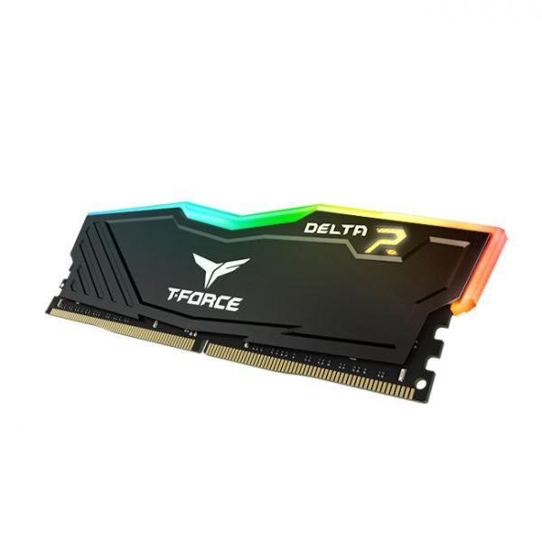 Memória RAM Team Group 8GB Delta DDR4 2400MHz PC4-19200 RGB Black - TF3D48G2400HC15B