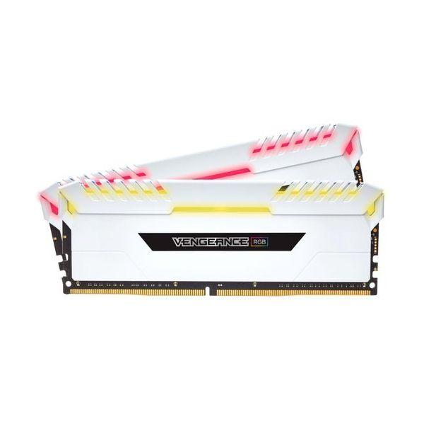 Memória RAM Corsair 32GB Vengeance RGB (4x 8GB) DDR4 3200MHz PC4-25600 CL16 White - CMR32GX4M4C3200C16W