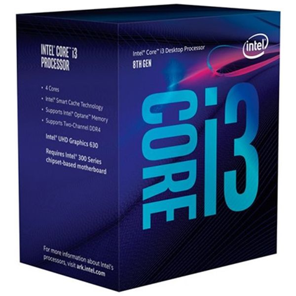 Intel Core i3-8100 3.6GHz 6MB Skt1151 - BX80684I38100