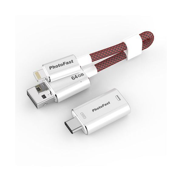 PhotoFast 64GB MemoriesCable Gen3 Adapter USB A / USB C Red - MCG3U3R64GBAD