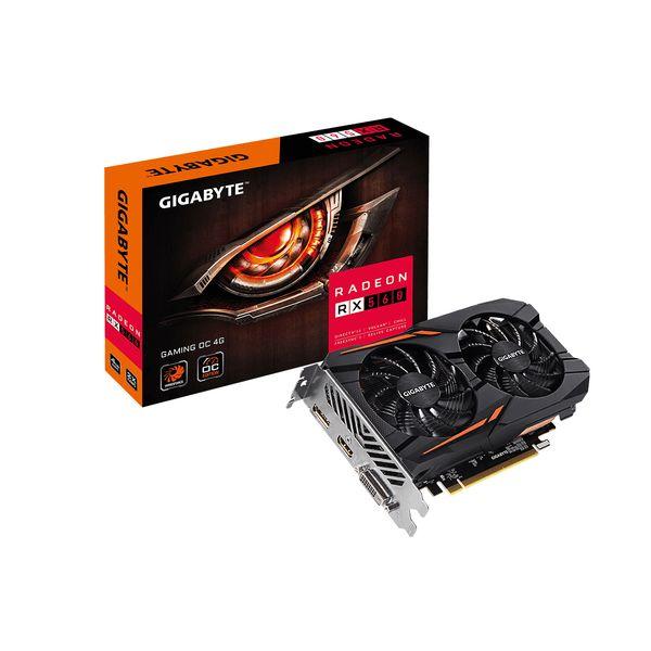 Gigabyte Radeon RX560 Gaming OC 4GB GDDR5 - GV-RX560GAMINGOC-4GD Rev2.0