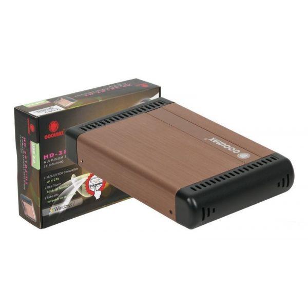 """Coolmax Caixa Externa 3.5"""" SATA USB 2.0 Cobre"""