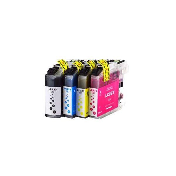 Conjunto 4 tinteiros Brother LC223XL CMYK Compatível