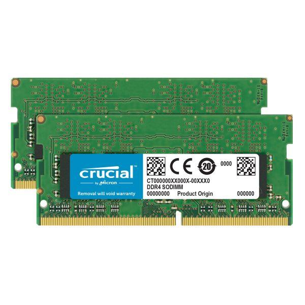 Memória RAM Crucial 32GB (2x 16GB) DDR4 2400MHz PC4-19200 SODIMM - CT2K16G4SFD824A