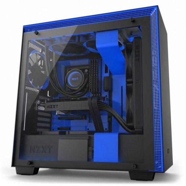 NZXT H700i Black/Blue - CA-H700W-BL