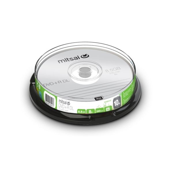 Mitsai DVD+R DL 8.5GB 8x - 10 unidades