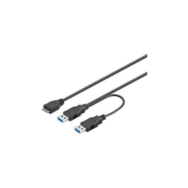 Cabo Doble USB 3.0 a Micro USB 3.0 1.8 Mts - USB3.0DOBLEUSBA