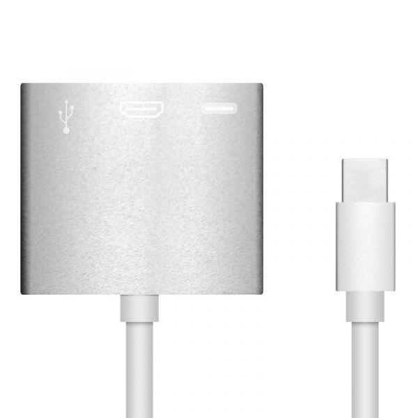 Adaptador USB-C a USB 3.0 + HDMI + USB-C - ADPUSBCHD