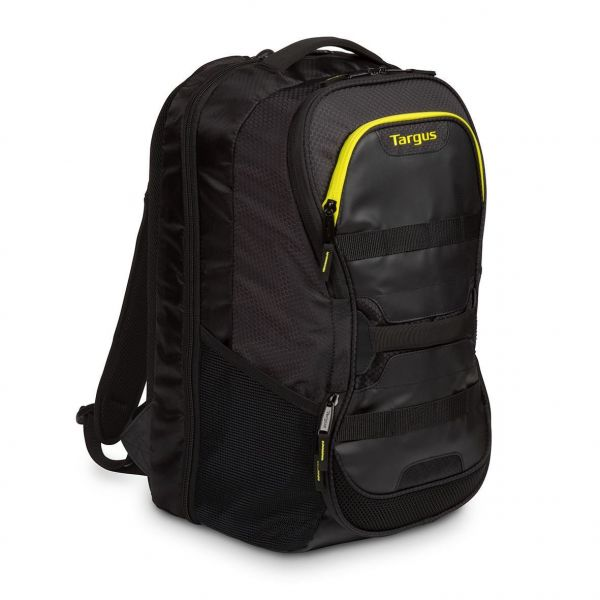 "Targus Work + Play Fitness 15.6"" Laptop Backpack Black/Yellow TSB944EU"
