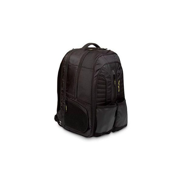 "Targus Work + Play Rackets 15.6"" Laptop Backpack Black/Yellow - TSB943EU"
