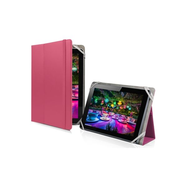 SBS Universal book case with stand position for Tablet 10'' Pink - TABOOKU10P