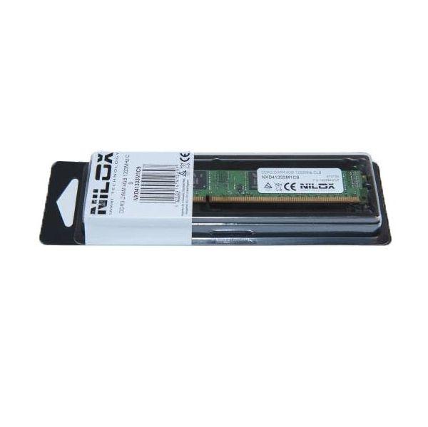 Memória RAM Nilox 4GB DDR3 1333MHz PC3-10600 CL9 - NXD41333M1C9