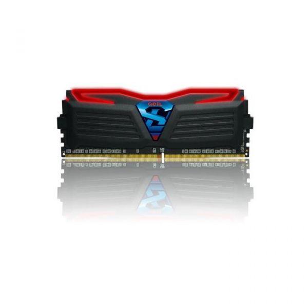 Memória RAM Geil 16GB Super Luce 2x 8GB DDR4 2400MHz PC4-19200 CL16 Black/Red GLR416GB2400C16DC