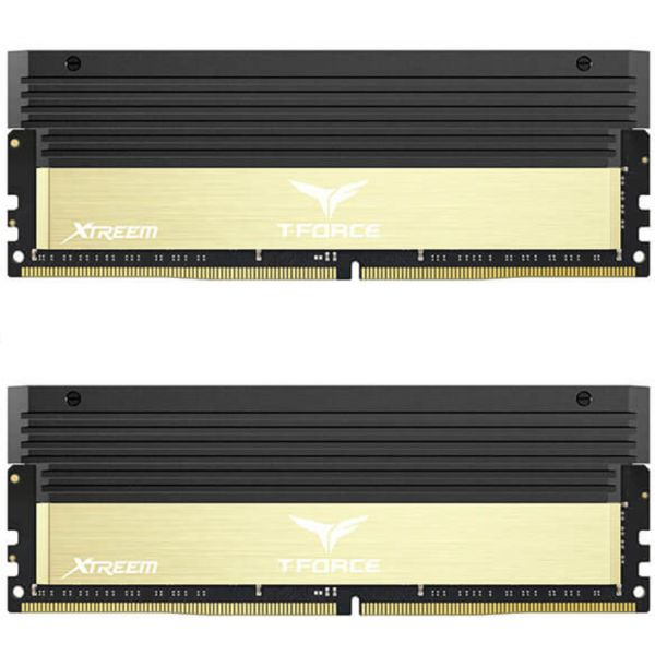 Memória RAM Team Group 8GB T-Force Xtreem 2x 4GB DDR4 3600Mhz CL17 Gold - TXGD48G3600HC17ADC01