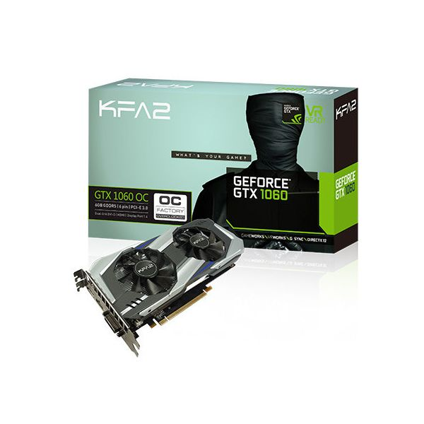 KFA2 GeForce GTX1060 OC 6GB GDDR5 60NRH7DSL9OK