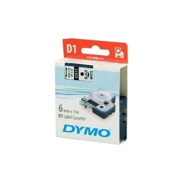 Dymo Fita D1 6Mm Preto/Branco
