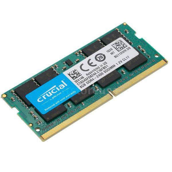 Memória RAM Crucial 8GB DDR4 2400GHz PC4-19200 SODIMM - CT8G4SFD824A