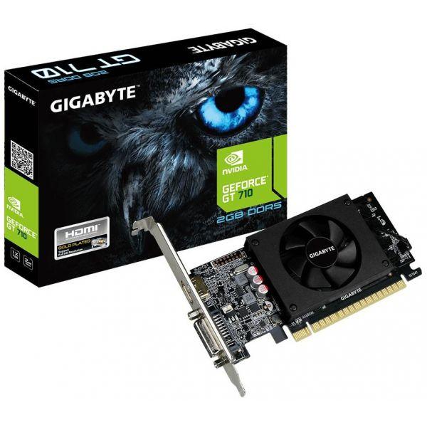 Placa Gráfica Gigabyte GeForce GT710 2GB DDR5 (PCI-E) - GV-N710D5-2GL