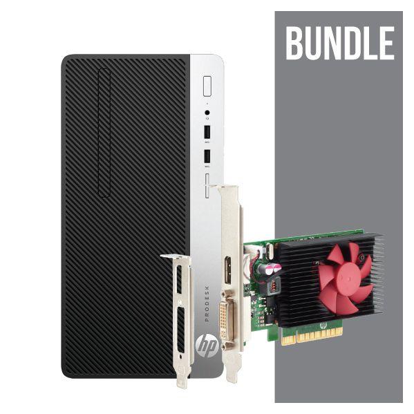 HP ProDesk 400 G4 MT i5-7500 4GB 1TB - NVIDIA GT 730 2 GB DP - 1JJ91EA+Z9H51AA