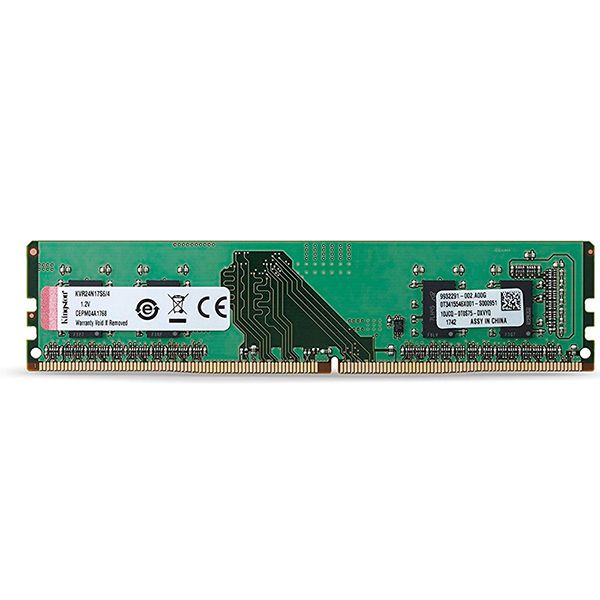 Memória RAM Kingston 4GB DDR4 2400MHz PC4-19200 CL17 - KVR24N17S6/4