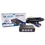 Comutador KVM4 USB/VGA SWITCH 4 + Cabos - 800971