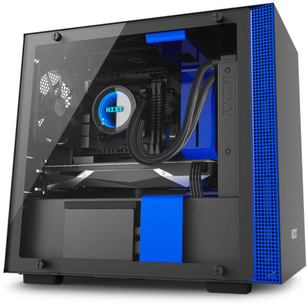 NZXT H200i Black/Blue - CA-H200W-BL