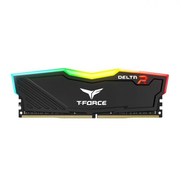 Memória RAM Team Group 8GB T-Force 2x 4GB DDR4 3000Mhz CL16 Delta RGB Black