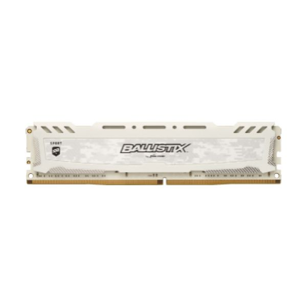 Memória RAM Crucial 8GB Ballistix Sport LT DDR4 2666MHz PC4-21300 White - BLS8G4D26BFSCK