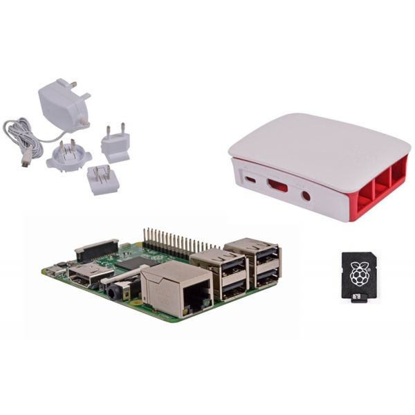 Raspberry Pi 3 + 32GB NOOBS + Caixa + Carregador White - RB-KIT-1022
