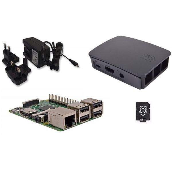 Raspberry Pi 3 + 32GB NOOBS + Caixa + Carregador Black - RB-KIT-1021