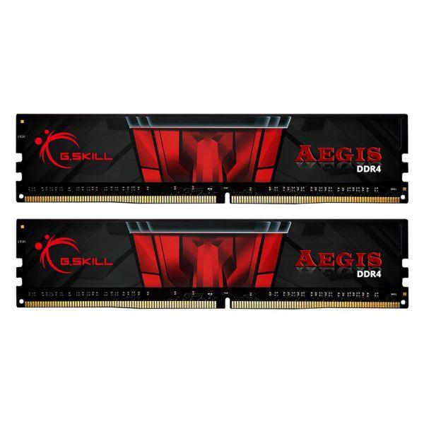 Memória RAM G.Skill 32GB Aegis DDR4 (2 x 16GB) DDR4 2400MHz PC4-19200 CL17 - F4-2400C17D-32GIS