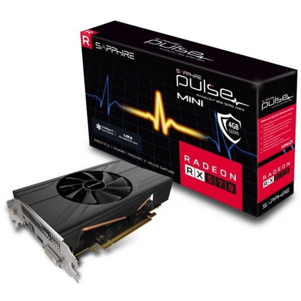 Sapphire Radeon RX570 Pulse ITX 4GB GDDR5 - 11266-34-20G
