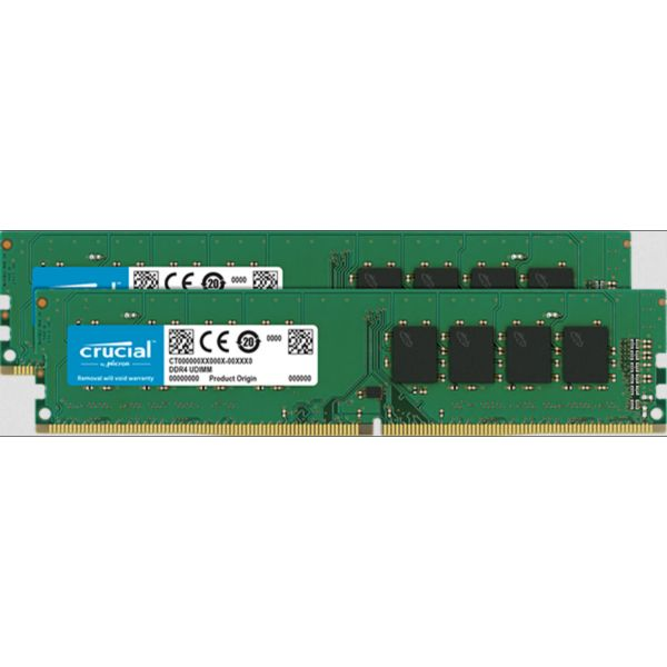 Memória RAM Crucial 16GB DDR4 (2 x8GB) 2666MHz PC4-21300 CL19 - CT2K8G4DFS8266