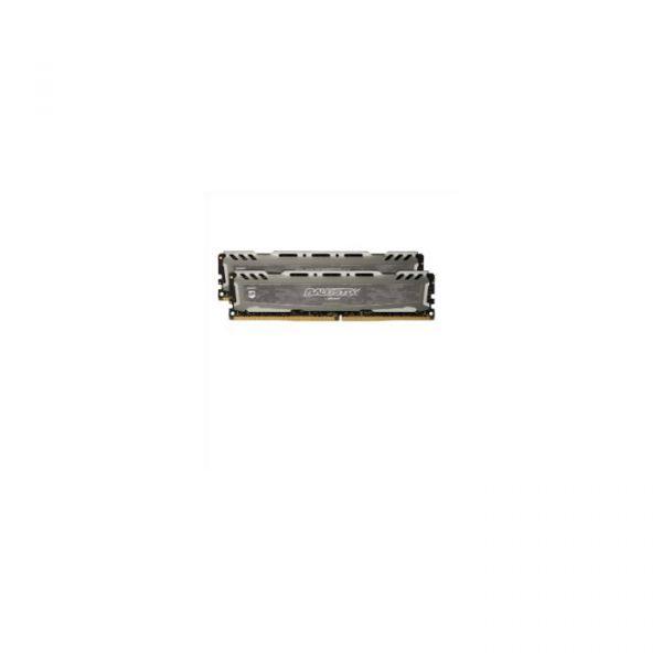 Memória RAM Crucial 8GB Ballistix Sport LT DDR4 4GBx2 2666MHz grey - BLS2C4G4D26BFSB