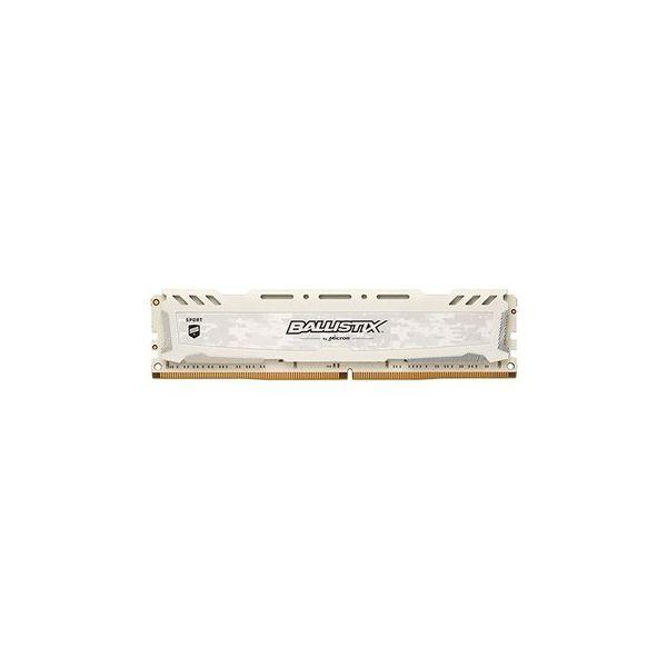 Memória RAM Crucial 8GB Ballistix Sport LT DDR4 2400MHz white SR - BLS8G4D240FSCK