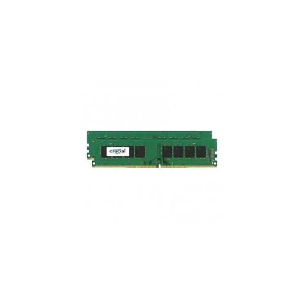 Memória RAM Crucial 8GB DDR4 2400MHz 4GBx2 SR x8 unbuffer - CT2K4G4DFS824A