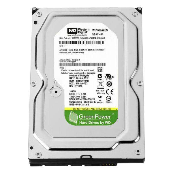 Western Digital 160GB AV-GP 3.5 5400rpm SATA II 16MB - WD1600AVCS