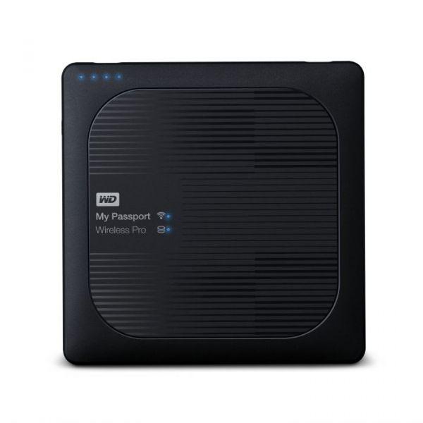 Disco Externo Western Digital 4TB My Passport Wireless Pro 2.5 USB 3.0 - WDBSMT0040BBK-EESN