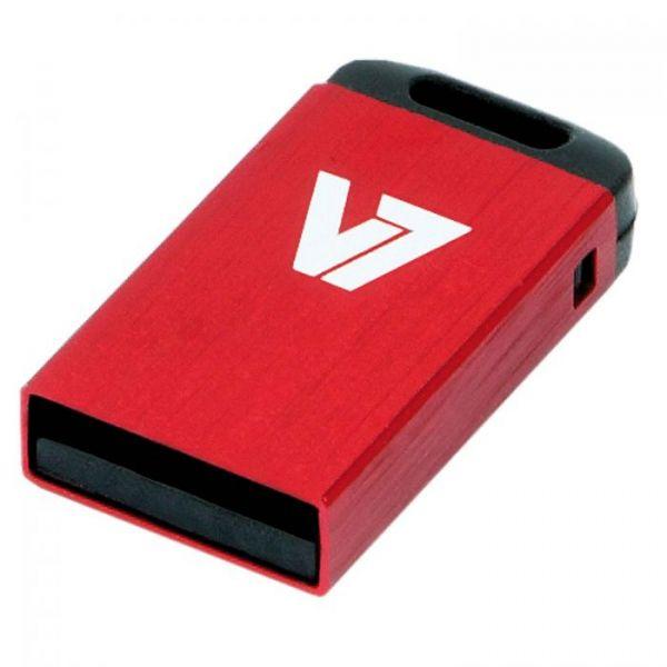 V7 Axpro 8GB Nano USB Stick Red Mem Usb 2.0 - VU28GCR-RED-2E